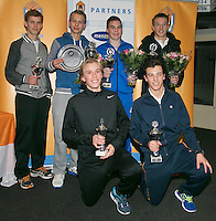 01-12-13,Netherlands, Almere,  National Tennis Center, Tennis, Winter Youth Circuit, Boys 16 years , all finalists <br /> Photo: Henk Koster