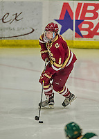 20 February 2016: Boston College Eagle Defenseman Teddy Doherty, a Senior from Hopkinton, MA, in action during the third period against the University of Vermont Catamounts at Gutterson Fieldhouse in Burlington, Vermont. The Eagles defeated the Catamounts 4-1 in the second game of their weekend series. Mandatory Credit: Ed Wolfstein Photo *** RAW (NEF) Image File Available ***