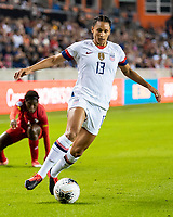 HOUSTON, TX - JANUARY 31: Lynn Williams #13 of the USA attacks with the ball during a game between Panama and USWNT at BBVA Stadium on January 31, 2020 in Houston, Texas.