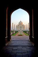 First light at the Taj Mahal