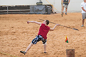 A contestant from Finland throws the lance at the International Indigenous Games, in the city of Palmas, Tocantins State, Brazil. Photo © Sue Cunningham, pictures@scphotographic.com 27th October 2015