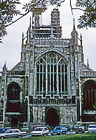 Gloucester: Gloucester Cathedral--West Front. Photo '90.