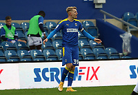 Joe Pigott of AFC Wimbledon reaction to being offside during AFC Wimbledon vs Shrewsbury Town, Sky Bet EFL League 1 Football at The Kiyan Prince Foundation Stadium on 17th October 2020