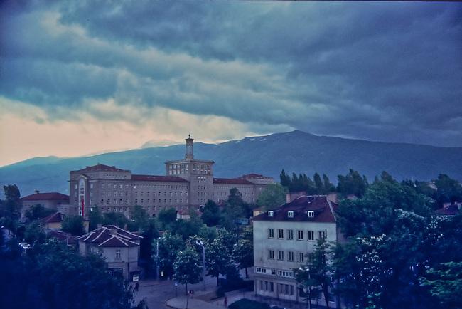 Mt. Vitosha from Velchova Zavera Square