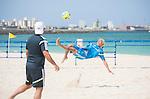 (R-L) Takasuke Goto,   Marcelo Mendes (JPN),<br /> APRIL 20, 2014 - Beach Soccer :<br /> Beach Soccer Japan national team candidates training camp in Okinawa, Japan. (Photo by Wataru Kohayakawa/AFLO)
