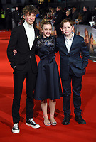 """Finn Elliot, Eleanor Stagg and Kit Connor<br /> arriving for the premiere of """"The Mercy"""" at the Curzon Mayfair, London<br /> <br /> <br /> ©Ash Knotek  D3375  06/02/2018"""