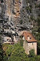 Europe/France/Midi-Pyrénées/46/Lot/ Vallée du Célé/Env de Cabrerets: Fontaine de la Pescalerie et son vieux moulin