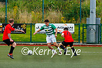 Wayne Sparling Killarney Celtic takes on Eoin McDonnell St Brendans Park during their cup clash in Celtic Park on Sunday