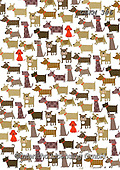 Kate, GIFT WRAPS, GESCHENKPAPIER, PAPEL DE REGALO, paintings+++++Odd one out - Dogs,GBKM386,#gp#, EVERYDAY