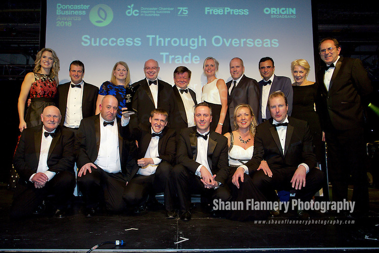 Pix: Shaun Flannery/shaunflanneryphotography.com<br /> <br /> COPYRIGHT PICTURE>>SHAUN FLANNERY>01302-570814>>07778315553>><br /> <br /> 8th December 2016<br /> Doncaster Business Awards 2016<br /> <br /> Success Through Overseas Trade<br /> Sponsored by NatWest<br /> <br /> Winner – Bawtry Carbon International