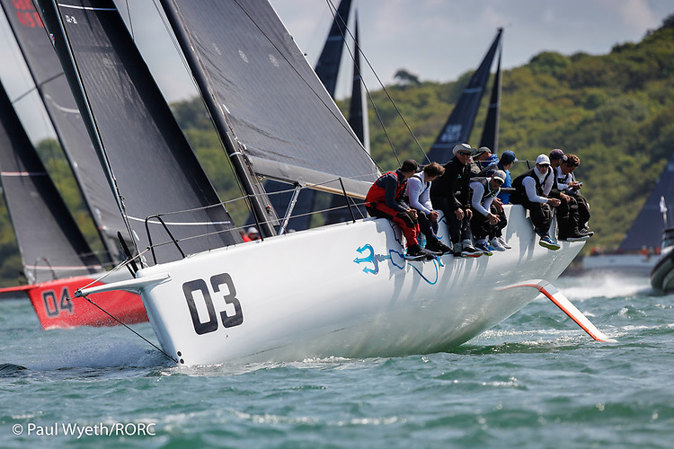 2021 Cowes-Dinard-St Malo Race winner Ino XXX raced by RORC Commodore James Neville