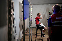 Per Strand Hagenes (NOR) is the newest Junior Men World Champion and awaits his very first live post-race flash interview<br /> <br /> World Championships Junior Men - Road Race (WC)<br /> from Leuven to Leuven (121.4km)<br /> <br /> UCI Road World Championships - Flanders Belgium 2021<br /> <br /> ©kramon