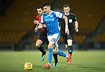 St Johnstone v Kilmarnock…02.12.17…  McDiarmid Park…  SPFL<br />Graham Cummins gets away from Gary Dicker<br />Picture by Graeme Hart. <br />Copyright Perthshire Picture Agency<br />Tel: 01738 623350  Mobile: 07990 594431