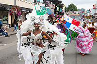 Beautiful Graciela Wearing White Carnival Outfit, Panama Folklore, Auburn Days Parade & Festival, Auburn, WA, USA.