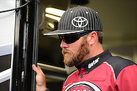 Sept. 23, 2012; Ennis, TX, USA: NHRA top fuel dragster driver Shawn Langdon during the Fall Nationals at the Texas Motorplex. Mandatory Credit: Mark J. Rebilas-