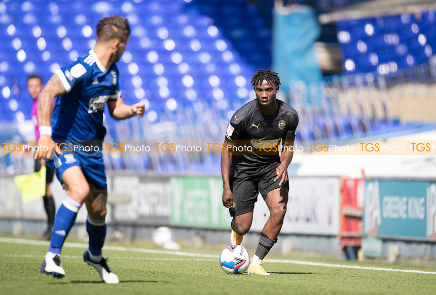Viv Solomon-Otabor, Wigan Athletic,  attacks the right wing during Ipswich Town vs Wigan Athletic, Sky Bet EFL League 1 Football at Portman Road on 13th September 2020