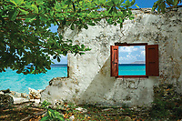 Wall of the old museum which was demolished in Hurricane Irma in 2017<br /> Cinnamon Bay<br /> St. John<br /> Virgin Islands
