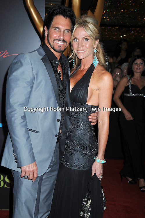 Don Diamont and wife Cindy arriving at the 37th Annual Daytime Emmy Awards at The Hilton in Las Vegas in Nevada on June 27, 2010