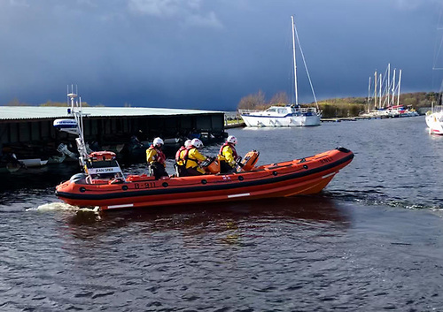 Lough Derg RNLI's inshore lifeboat Jean Spicer and crew