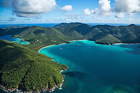 Aerial view of St. John<br /> showing Francis Bay and Mary Point<br /> Virgin Islands National Park