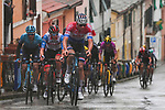 Dutch Champion Mathieu Van Der Poel (NED) Alpecin Fenix at the front of the lead group during Stage 5 of Tirreno-Adriatico Eolo 2021, running 205km from Castellalto to Castelfidardo, Italy. 14th March 2021. <br /> Photo: LaPresse/Marco Alpozzi | Cyclefile<br /> <br /> All photos usage must carry mandatory copyright credit (© Cyclefile | LaPresse/Marco Alpozzi)