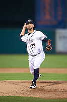 Syracuse Chiefs relief pitcher Rafael Martin (32) during a game against the Louisville Bats on June 6, 2016 at NBT Bank Stadium in Syracuse, New York.  Syracuse defeated Louisville 3-1.  (Mike Janes/Four Seam Images)