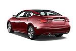 Car pictures of rear three quarter view of 2018 Nissan Maxima Platinum 4 Door Sedan Angular Rear