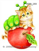 Kayomi, CUTE ANIMALS, paintings, CaterpillarKitten_M, USKH189,#AC# stickers illustrations, pinturas ,everyday