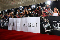"LOS ANGELES - NOV 9:  Event Photographers at the ""Allied"" Fan Screening at Village Theater on November 9, 2016 in Westwood, CA"