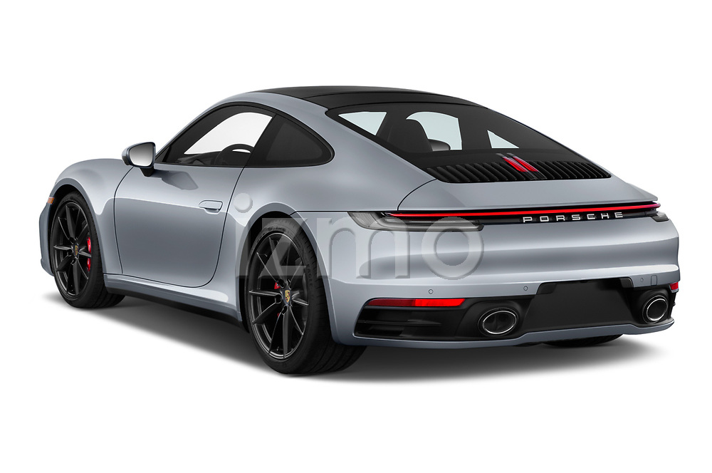Car pictures of rear three quarter view of a 2020 Porsche 911 Carrera S 2 Door Coupe angular rear