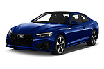 2021 Audi A5-Coupe S-Line 2 Door Coupe Angular Front automotive stock photos of front three quarter view
