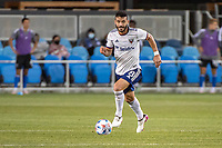SAN JOSE, CA - MAY 01: Felipe Martins #8 of DC United dribbles the ball during a game between San Jose Earthquakes and D.C. United at PayPal Park on May 01, 2021 in San Jose, California.