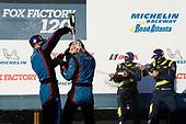 #98 Bryan Herta Autosport w/ Curb Agajanian Hyundai Veloster N TCR, TCR: Michael Lewis, Mason Filippi, #27 T. Maxson / T. Gonzalez COPELAND MOTORSPORTS Hyundai Veloster N TCR , #84  Atlanta Speedwerka Honda Civic TCR, TCR: Brian Henderson, Todd Lamb, podium, champagne