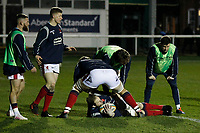 Mark Bright of London Scottish during the Greene King IPA Championship match between London Scottish Football Club and Nottingham Rugby at Richmond Athletic Ground, Richmond, United Kingdom on 7 February 2020. Photo by Carlton Myrie.