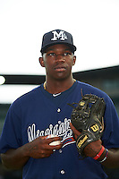 Mississippi Braves pitcher Tyrell Jenkins (11) poses for a photo before a game against the Mobile BayBears on April 28, 2015 at Hank Aaron Stadium in Mobile, Alabama.  The game was suspended after the top of the second inning with Mobile leading 3-0, the BayBears went on to defeat the Braves 6-1 the following day.  (Mike Janes/Four Seam Images)