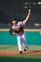 Rochester Red Wings starting pitcher Stephen Gonsalves (23) delivers a pitch during a game against the Lehigh Valley IronPigs on June 29, 2018 at Frontier Field in Rochester, New York.  Lehigh Valley defeated Rochester 2-1.  (Mike Janes/Four Seam Images)