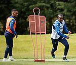 09.05.2019 Rangers training: Jermain Defoe and Glen Kamara