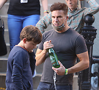 September 24, 2021.Will Speck, Winslow Fegley, filming on location for  Sony pictures Lyle Lyle Crocodile<br />   in New York September 24, 2021 Credit:RW/MediaPunch
