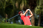 SHENZHEN, CHINA - OCTOBER 31:  Chang-Won Han of South Korea tees off on the 6th hole during the day three of Asian Amateur Championship at the Mission Hills Golf Club on October 31, 2009 in Shenzhen, Guangdong, China.  (Photo by Victor Fraile/The Power of Sport Images) *** Local Caption *** Chang-Won Han