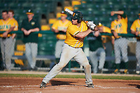 Siena Saints catcher Patrick Ortland (27) at bat during a game against the Pittsburgh Panthers on February 24, 2017 at Historic Dodgertown in Vero Beach, Florida.  Pittsburgh defeated Siena 8-2.  (Mike Janes/Four Seam Images)