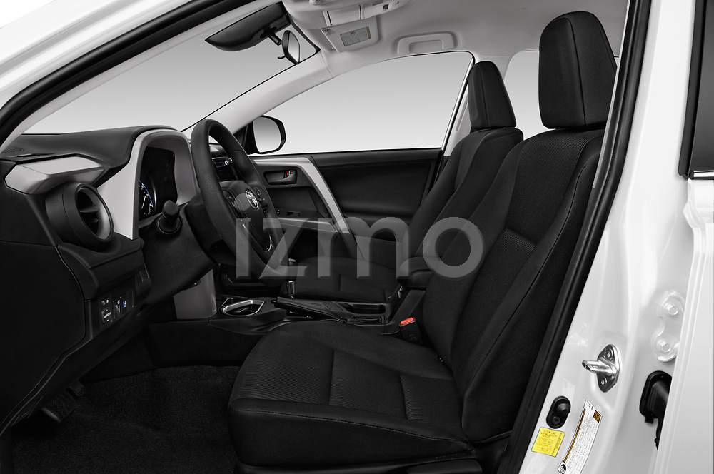Front seat view of a 2018 Toyota RAV4 LE 5 Door SUV front seat car photos