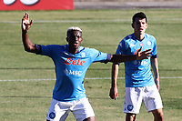 Victor Osimhen of SSC Napoli gestures and Hirving Lozano of SSC Napoli<br /> during the friendly football match between SSC Napoli and SS Teramo Calcio 1913 at stadio Patini in Castel di Sangro, Italy, September 04, 2020. <br /> Photo Cesare Purini / Insidefoto
