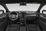 Stock photo of straight dashboard view of 2021 Volvo XC40-Recharge - 5 Door SUV Dashboard