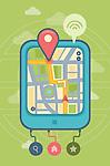 Illustration of GPS on digital tablet