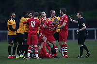Tempers flare during Hornchurch vs Maidstone United, Buildbase FA Trophy Football at Hornchurch Stadium on 6th February 2021