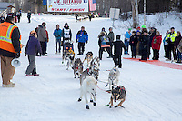 Chandler Wappett At the start of the 2016 Junior Iditarod Sled Dog Race on Willow Lake  in Willow, AK February 27, 2016