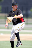 July 13, 2009:  Pitcher Tom Boleska of the GCL Pirates during a game at Tiger Town in Lakeland, FL.  The GCL Pirates are the Gulf Coast Rookie League affiliate of the Pittsburgh Pirates.  Photo By Mike Janes/Four Seam Images