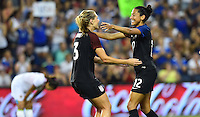 Kansas City, KS. - July 22, 2016: The U.S. Women's National team defeat Costa Rica 4-0 with Christen Press contributing a goal late in a friendly match in preparation for the Olympics at Children's Mercy Park.