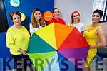 Bank of Ireland staff in Tralee supporting Kerry Pride in the Bank on Friday.<br /> L to r: Maev Nelan, Jenny Douglas, Brigetta Culhane, Deirdre Cullinan and Catherine O'Sullivan.