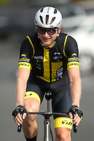 Hamish Bond of Team Blindz Direct warms up during the NZ Cycle Classic stage one of the UCI Oceania Tour in Wairarapa, New Zealand on Sunday, 22 January 2017. Photo: Hagen Hopkins / lintottphoto.co.nz